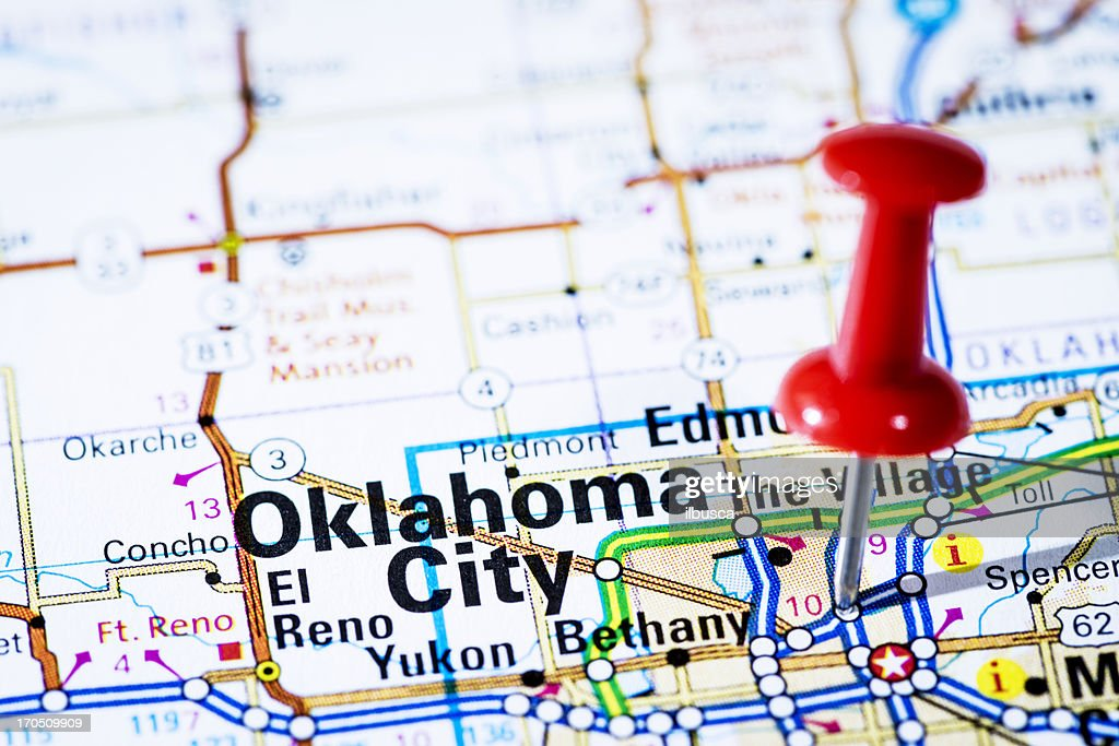 Us Capital Cities On Map Series Oklahoma City Oklahoma Ok Stock - Oklahoma city us map