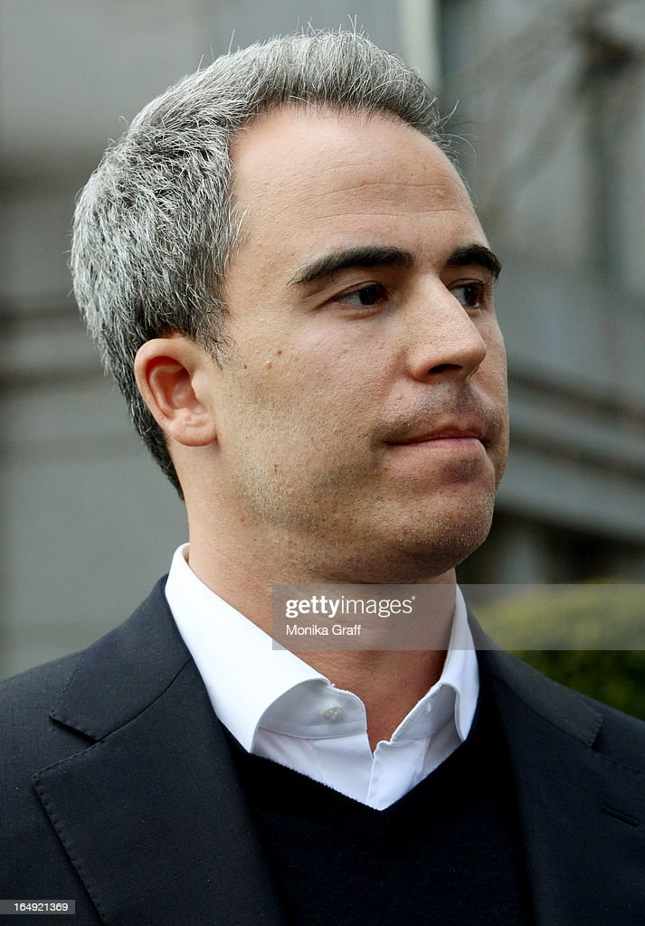 Capital portfolio manager Michael Steinberg leaves federal court after being arraigned on insider trading charges on March 29, 2013 in New York City. Federal Bureau of Investigation (FBI) agents arrested Steinberg at his home in New York City at around 6 a.m. on charges of using inside information to make trades in shares of chipmaker Nvidia Corp and Dell Inc.