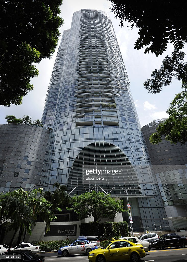 CapitaLand Ltd.'s The Orchard Residences stands in Singapore, on Monday, Feb. 18, 2013. CapitaLand, Southeast Asia's biggest developer, is scheduled to release fourth quarter earnings on Feb. 21. Photographer: Munshi Ahmed/Bloomberg via Getty Images