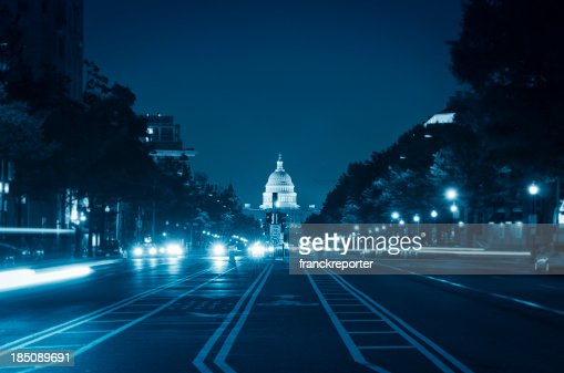 US Capitol and street light in Washington DC