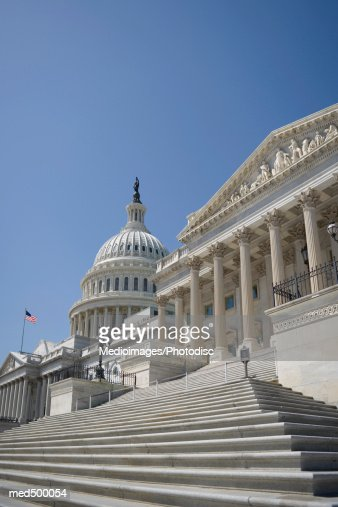 Capitol building and Supreme Court Building in Washington DC, USA : Stock Photo