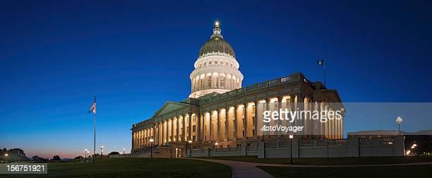 Capitol Building dusk panorama Salt Lake City Utah