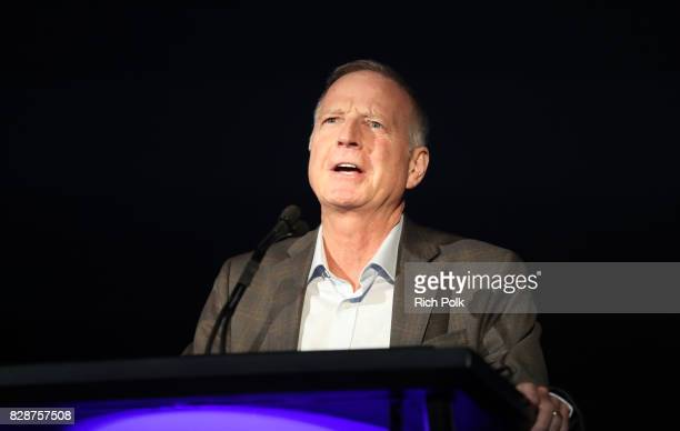 Capitol Christian Music Group Founder and CEO Bill Hearn speaks onstage during Capitol Music Group's Premiere Of New Music And Projects For Industry...