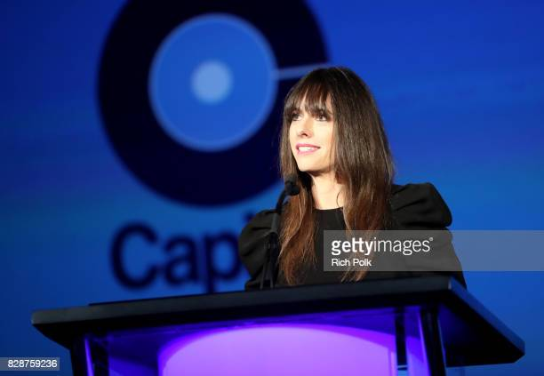 Capitol Music Group COO Michelle Jubelirer speaks onstage during Capitol Music Group's Premiere Of New Music And Projects For Industry And Media at...