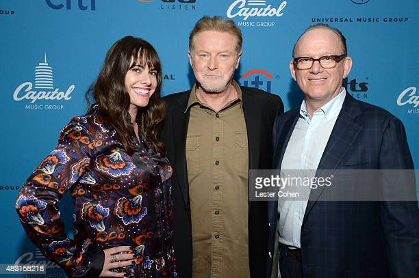 EVP Capitol Music Group Michelle Jubelirer musician Don Henley and chairman and CEO of Capitol Music Group Steve Barnett attend the 3rd Annual...