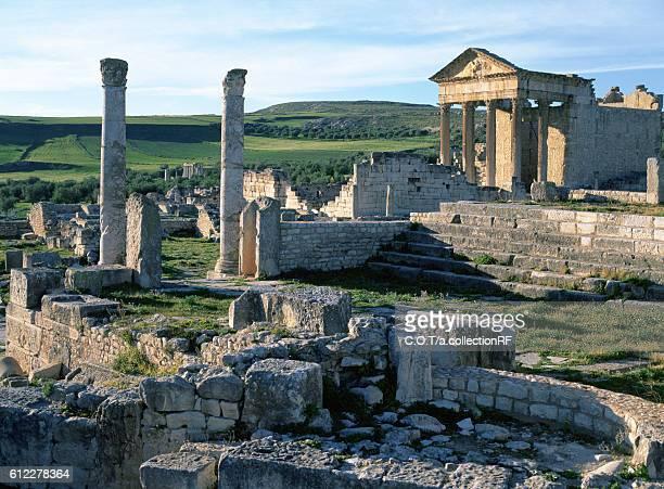 Capitol of Dougga Ruins, Tunisia