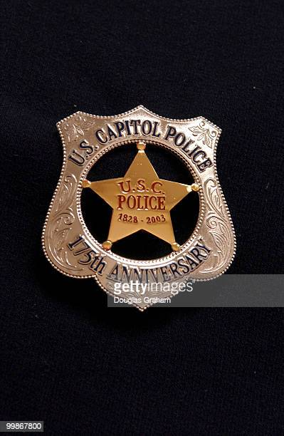Capitol Police 175th Anniversary Badges Guest Clinton Retro