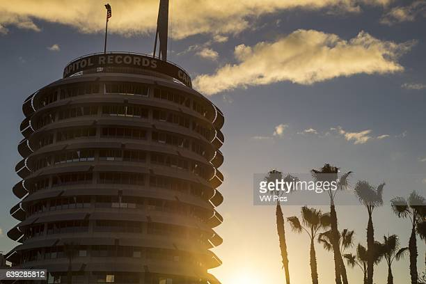 Capitol records Building at Sunset Hollywood California USA