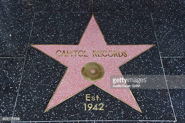 Capitol Records honored by the Hollywood Chamber of Commerce with a 'Star of Recognition' at Capitol Records Tower on November 15 2016 in Los Angeles...