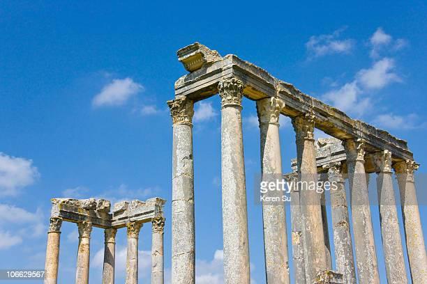 Capitol, ruins of Thugga in Ain Darham Mountain