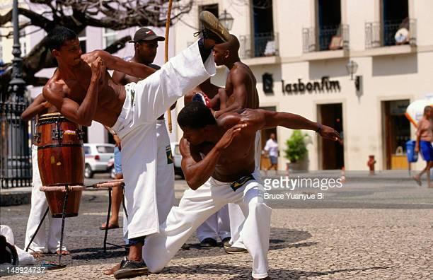 Capoeira, martial art of dancing, performed in Terrieiro de Jesus.