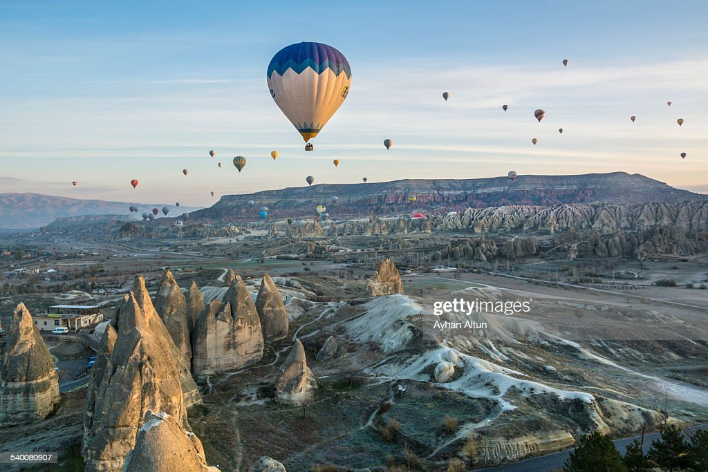 Cappadocia hot air ballooning in Nevsehir,Turkey