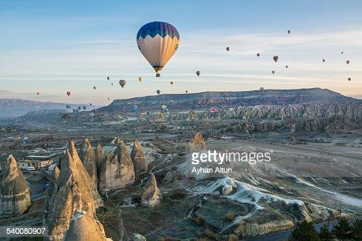 Cappadocia hot air ballooning in Nevsehir,Turkey