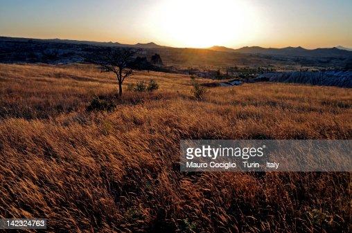 Cappadocia sunset : Stock Photo