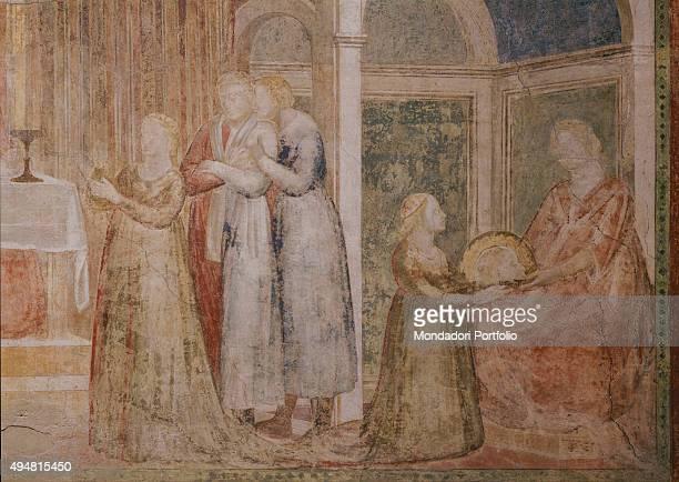 Cappella Peruzzi by Giotto di Bondone c 13181322 14th Century fresco Italy Tuscany Florence Basilica of Santa Croce Detail Feast of Herod Herod...