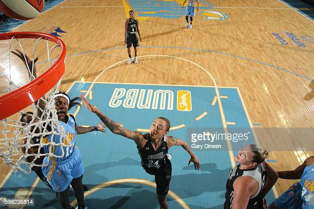Cappie Pondexter of the Chicago Sky shoots the ball against the San Antonio Stars on September 4 2016 at Allstate Arena in Rosemont IL NOTE TO USER...