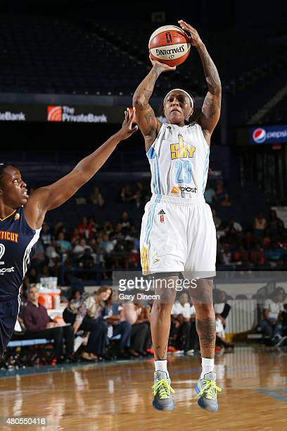 Cappie Pondexter of the Chicago Sky takes a shot against the Connecticut Sun on July 12 2015 at Allstate Arena in Rosemont Illinois NOTE TO USER User...
