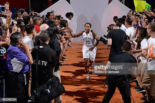 Cappie Pondexter of the Eastern Conference AllStars is introduced before the 2014 Boost Mobile WNBA AllStar Game on July 19 2014 at US Airways Center...