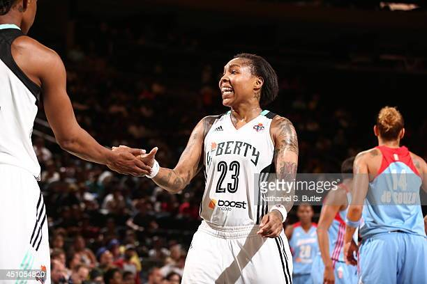 Cappie Pondexter of the New York Liberty during a game against the Atlanta Dream at Madison Square Garden in New York City on June 21 2014 NOTE TO...