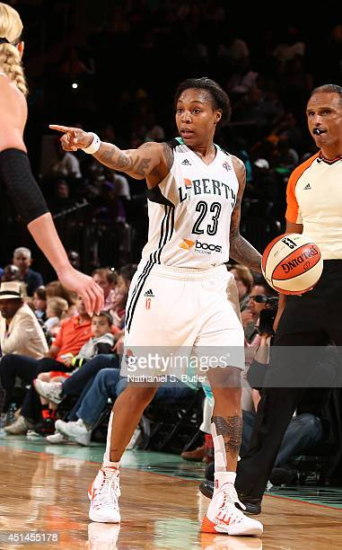 Cappie Pondexter of the New York Liberty during a game against the Connecticut Sun at Madison Square Garden in New York City on June 29 2014 NOTE TO...