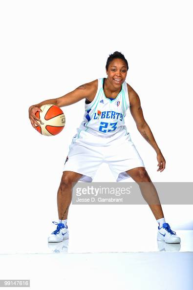 Cappie Pondexter of the New York Liberty poses for a photo during WNBA Media Day on May 12 2010 at the MSG Training Facility in Tarrytown New York...