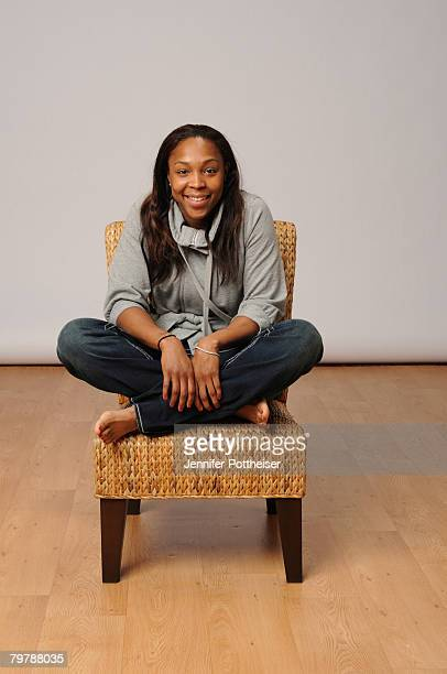 Cappie Pondexter of the Phoenix Mercury poses for a portrait during All Star Media Availability on February 15 2008 at the Sheraton New Orleans in...