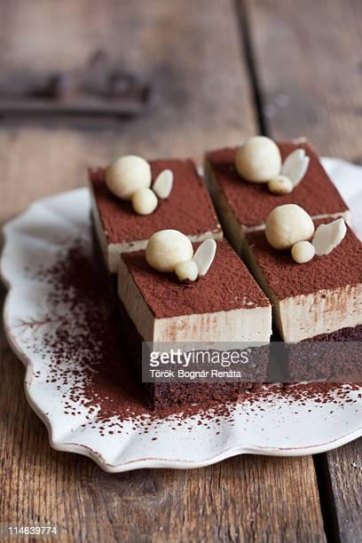 Cappuccino and amaretto cake