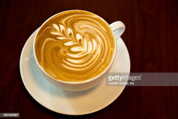Cappuccino foam art