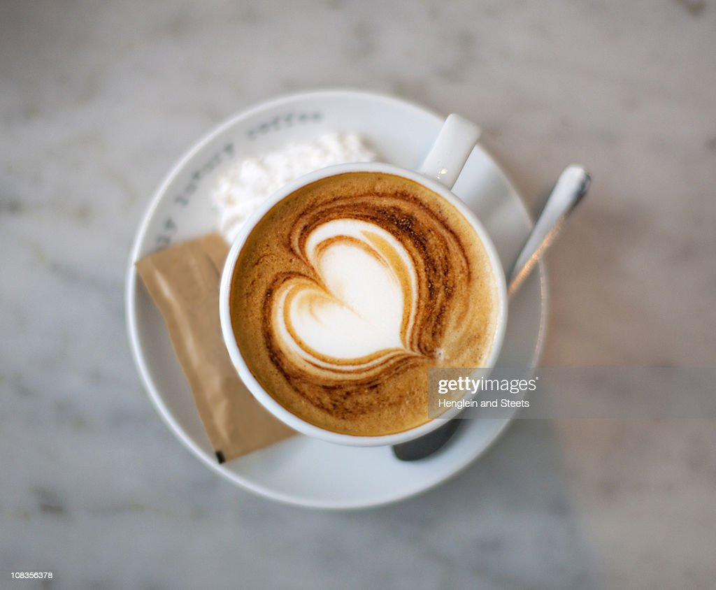 Cappuccino with heart : Stock Photo