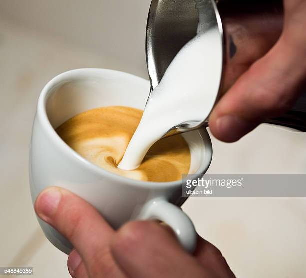 Cappuccino with milk froth