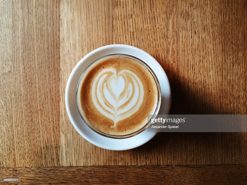 Cappucino with heart-shaped microfoam