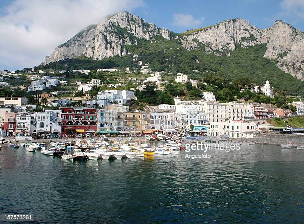 Capri island landscape of the Marina Grande