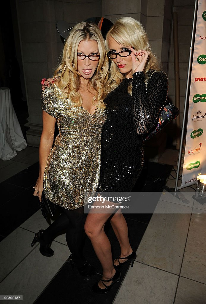 Caprice and Nancy Sorrell attend the Specsavers Spectacle Wearer Of The Year 2009 Grand Final at Victoria Albert Museum on October 27 2009 in London...