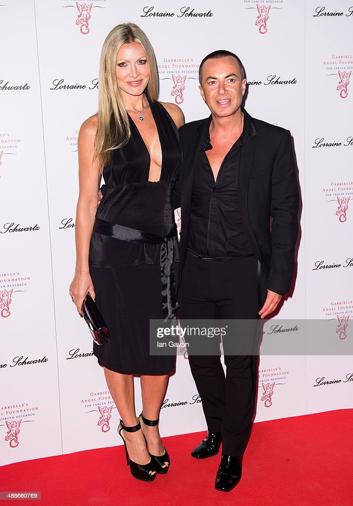 Caprice Bourret and Julien Macdonald attend Gabrielle's Gala at Old Billingsgate Market on May 7, 2014 in London, England. Gabrielle's Gala is an annual fundraiser in aid of Gabrielle's Angel Foundation for Cancer.