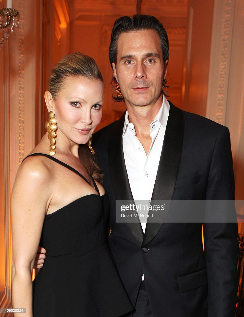 Caprice Bourret and Ty Comfort attend the Louis Dundas Centre Dinner at the Mandarin Oriental Hyde Park on November 26 2014 in London England