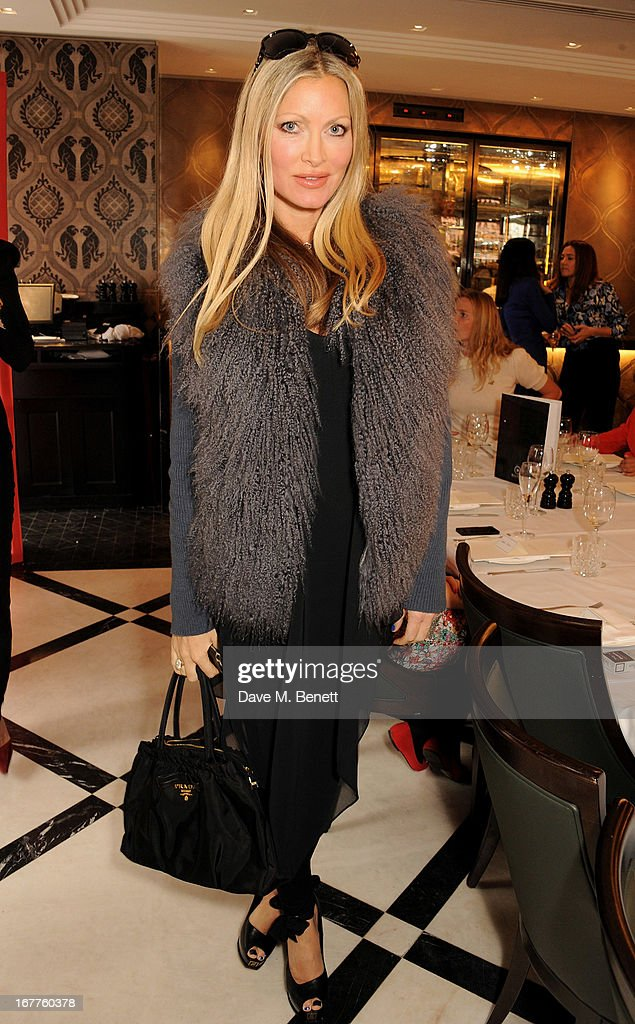 Caprice Bourret attends the launch of Cash & Rocket, in aid of the (Red) Rush to Zero campaign, at Banca Restaurant on April 29, 2013 in London, England.