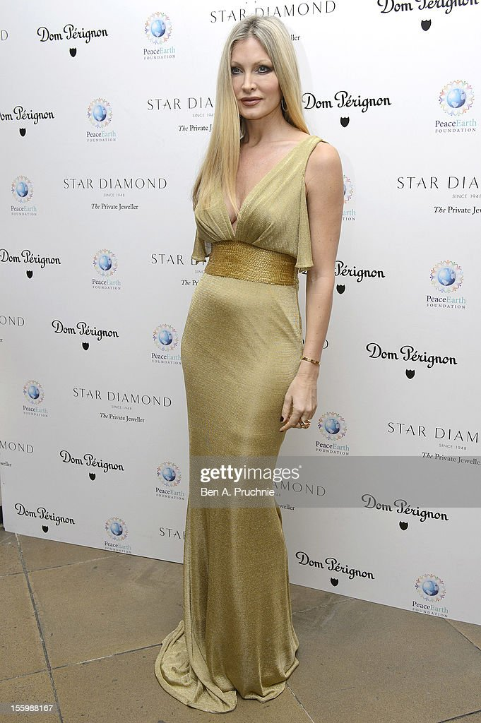Caprice Bourret attends the PeaceEarth foundation fundraising gala at Banqueting House on November 10, 2012 in London, England.