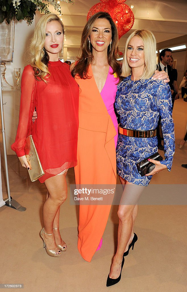 Caprice Bourret Heather Kerzner and Caroline Stanbury attend The Masterpiece Midsummer Party in aid of Marie Curie Cancer Care hosted by Heather...