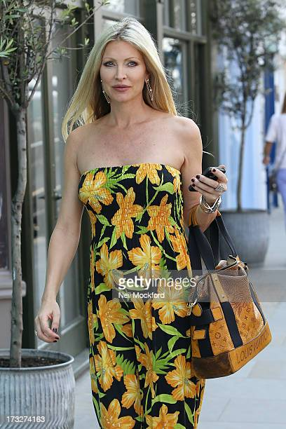 Caprice Bourret is pictured shopping at Blue Almonds on July 11 2013 in London England