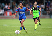 Caprice Dydasco of the Jets controls the ball during the round five WLeague match between the Newcastle Jets and Canberra United at Magic Park on...