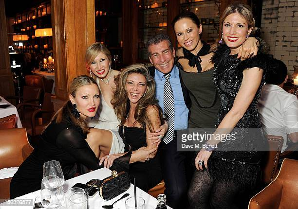 Caprice guest Lisa Tchenguiz Steve Varsano guest and Hofit Golan attend the de Grisogono private dinner at 17 Berkeley St on November 12 2012 in...