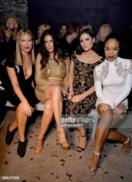 Caprice Lisa Snowdon Lilah Parson and SarahJane Crawford attend the Julien Macdonald show during London Fashion Week September 2017 on September 18...