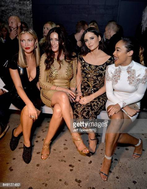 Caprice Lisa Snowdon Lilah Parsons and SarahJane Crawford attend the Julien Macdonald show during London Fashion Week September 2017 on September 18...