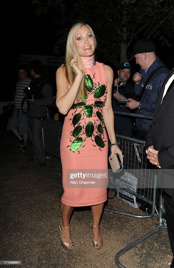 <a gi-track='captionPersonalityLinkClicked' href=/galleries/search?phrase=Caprice&family=editorial&specificpeople=202657 ng-click='$event.stopPropagation()'>Caprice</a> sighting leaving the Serpentine Summer Party on June 26, 2013 in London, England.