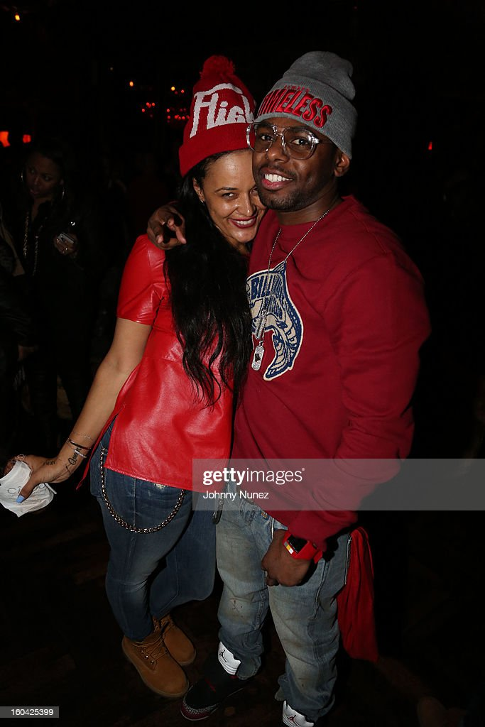 Capricorn Clark and Jayvon Smith attend the DJ Enuff Birthday Celebration at The Griffin on January 30, 2013 in New York City.