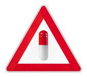 Capsule Warning Sign