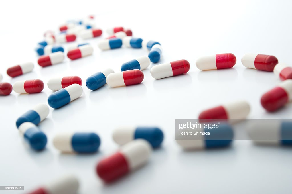 Capsules shape like gene : Stock Photo