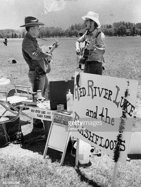 Capt Gary Dikkers left and his brother Steve sing countryWestern songs during the chili cookoff They didn't win showmanship category Credit Denver...