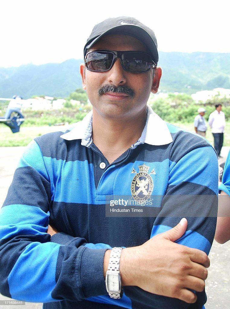 Capt. Vivek Chaturvedi at Dehradun Helidrome on June 27, 2013 in Dehradun, India. Air rescue operations resumed today to pull out stranded people but they had to be halted for Badrinath as the weather turned bad, even as decaying bodies were being cremated swiftly in worst-hit Kedarnath Valley amid fears of an epidemic outbreak.