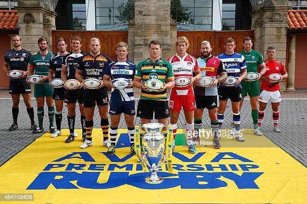 Captain Alistair Hargreaves of Saracens Captain Geoff Parling of Leicester Tigers Captain Will Welch of Newcastle Falcons Captain Dean Mumm of Exeter...